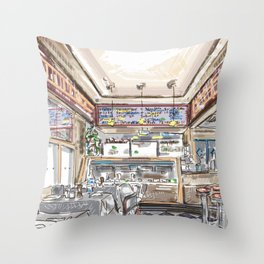 Little Dom's Restaurant in Los Angeles California Throw Pillow