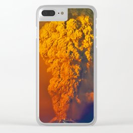 Volcano Calbuco Clear iPhone Case