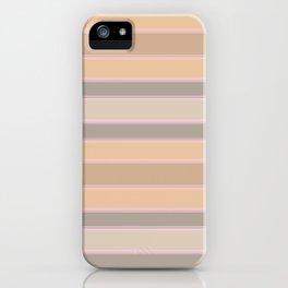 Beige, brown, grey stripes iPhone Case