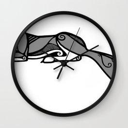 Sleeping Grey Wolf Wall Clock