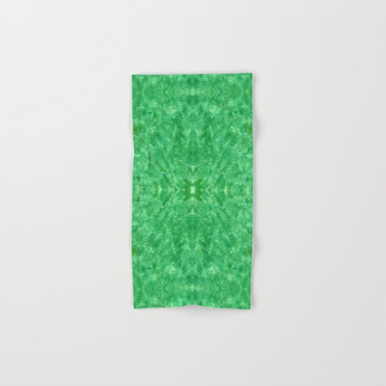 Green swirls doodles Hand & Bath Towel