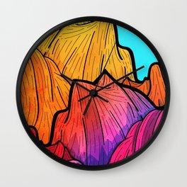 Summer top hills Wall Clock