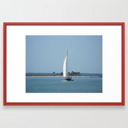 Open Sails Framed Art Print