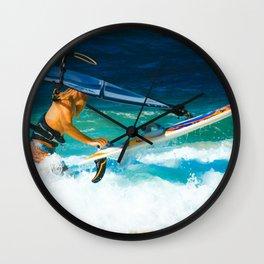 Hookipa Beach Windsurfing North Shore Maui Hawaii Wall Clock