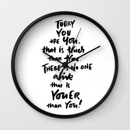You Are You Wall Clock