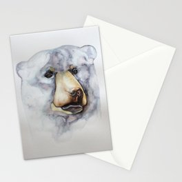 bear watercolour illustration Stationery Cards
