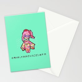 New year melone Stationery Cards