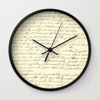 writing Wall Clocks featuring Vintage Writing by Paper Rescue Designs