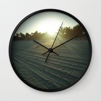 miami Wall Clocks featuring Miami by Bluest Blue