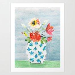 Spring Flowers in Vase Art Print
