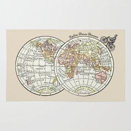Explore Dream Discover art print Rug