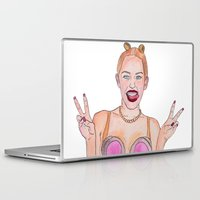 miley cyrus Laptop & iPad Skins featuring Miley Cyrus by EvdokiasArt
