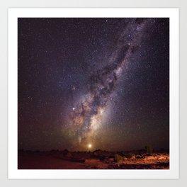 Rising Venus and the Milky Way Down Under Art Print