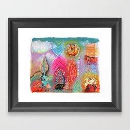 Bear Dreaming Framed Art Print