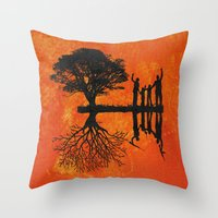 family Throw Pillows featuring Family by Last Call