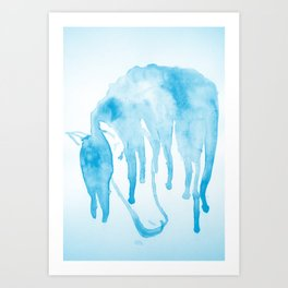 Horse blues Art Print