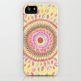 Yellow Sunflower Mandala iPhone Case