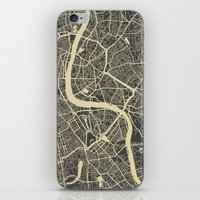 london iPhone & iPod Skins featuring London by Map Map Maps