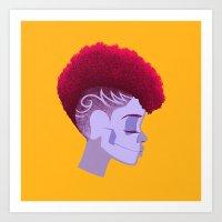 See Through Girl 5 Art Print