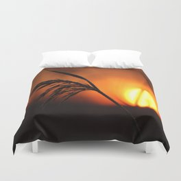 Good Morning Sun Winter Scene #decor #society6 Duvet Cover