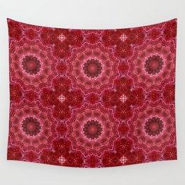 Crimson kaleidoscope.  Christmas  mandala . Wall Tapestry
