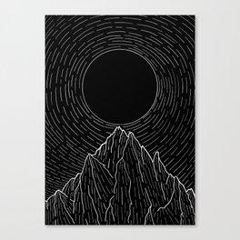 The dark sun over the mountains Canvas Print
