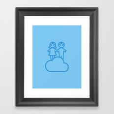 Couple in the clouds Framed Art Print