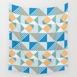 Geometric Polka Dots Petit Pois Cream Wall Tapestry