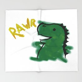 The Little Dinosaur Throw Blanket