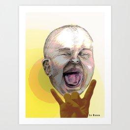 Rocking Baby Art Print