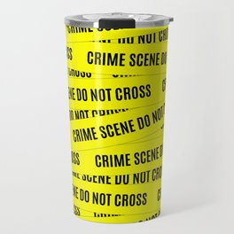 Crime Scene Tape Pattern Travel Mug