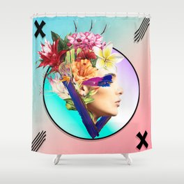 Woman poster Shower Curtain