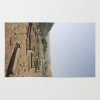 palestine Area & Throw Rugs featuring Jordan Valley Palestine by Sanchez Grande