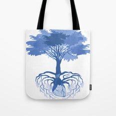 Heart Tree - Blue Tote Bag