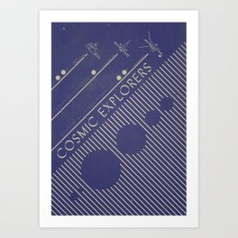 Cosmic Explorers Art Print