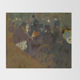 Henri de Toulouse-Lautrec - At the Moullin Rouge Throw Blanket