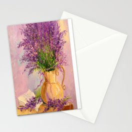 A bouquet of lavender Stationery Cards