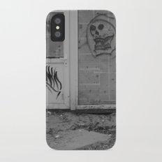 Death's newspaper booth iPhone X Slim Case