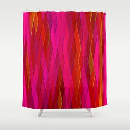 Re-Created Vertices No. 26 by Robert S. Lee Shower Curtain