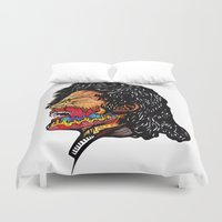 scream Duvet Covers featuring Scream by Vasco Vicente