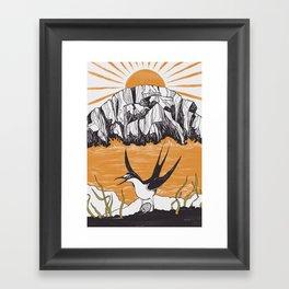 The Birdman Religion Framed Art Print