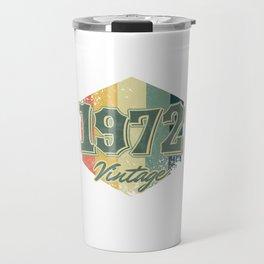 48 th Birthday Celebration Gift 1972 Vintage Retro Party Birth Anniversary Travel Mug