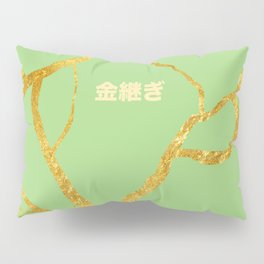 Kintsugi green Pillow Sham