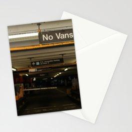 No Vans Stationery Cards