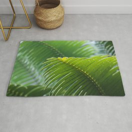 SELECTIVE FOCUS PHOTOGRAPHY OF GREEN LEAFE Rug