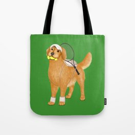 Ready for Tennis Practice (Green) Tote Bag