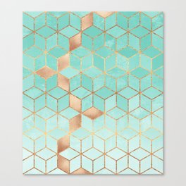 Soft Gradient Aquamarine Canvas Print