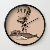 fig Wall Clocks featuring fig.8 by TRASH RIOT