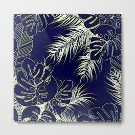 Tropical Blues Metal Print
