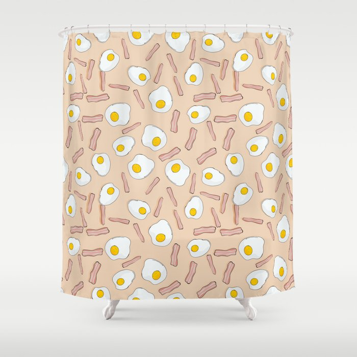 Eggs And Bacon Shower Curtain